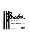 Fender Precision Bass Owner's manual