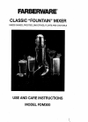 Farberware FDM300 Use And Care Instruction 8 pages