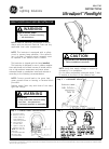 GE Ultra Sport GRH-5736F Instructions 4 pages