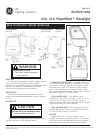 GE HLU Powerflood Instructions 2 pages