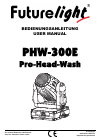 Future light PHW-300E Operation & User's Manual 56 pages