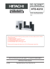 Hitachi HTD-K210 Service Manual 71 pages