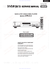 Integra DPS-8.3 Service Manual 99 pages