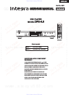 Integra DPS-6.5 Service Manual 65 pages