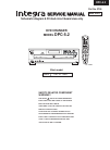 Integra DPC-5.2 Schematic Diagram & Printed Circuit Board View Only 31 pages