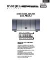 Integra RDA-7.1 Service Manual 30 pages