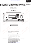 Integra DTR-7.2 Service Manual 40 pages