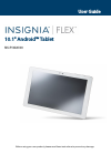 Insignia NS-P10A6100 Operation & User's Manual 64 pages