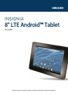 Insignia NS-15T8LTE Operation & User's Manual 74 pages