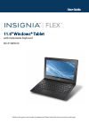 Insignia Flex NS-P11W6100 Operation & User's Manual 85 pages