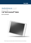 Insignia Flex Elite NS-P16AT785HD Operation & User's Manual 61 pages