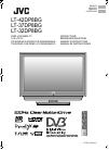 JVC LT-32DP8BG Instruction Manual 123 pages