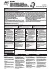 JVC KV-CM10 Instructions Manual 12 pages