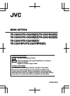 JVC TK-C9200U - 580 Tvl Color Cctv Camera Menu setting