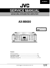 JVC AX-M9000 Service Manual 50 pages