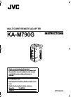 JVC KA-M790G Instructions Manual 24 pages