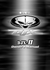 Yamaha DJX-II Owner's manual