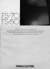 Yamaha FS-70 Operation & user's manual