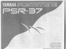 Yamaha Portatone PSR-37 Owner's manual