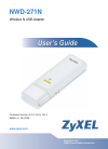 ZyXEL Communications NWD-271N - Operation & user's manual
