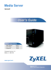 ZyXEL Communications NSA325 Operation & User's Manual 535 pages