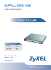 ZyXEL Communications Unified Security Gateway ZyWALL 1000 Operation & User's Manual 1075 pages