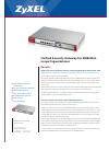 ZyXEL Communications Unified Security Gateway ZyWALL 1000 Specifications 4 pages