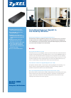 ZyXEL Communications Unified Security Gateway ZyWALL 1000 Brochure 2 pages