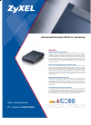 ZyXEL Communications ADSL 2+ Security Gateway Specifications 2 pages