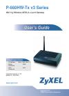 ZyXEL Communications P-660HW-T1 v3 Operation & user's manual
