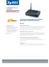 ZyXEL Communications P-660HW-T1 v3 Specification sheet
