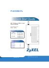 ZyXEL Communications P-661HNU-Fx Quick start quide