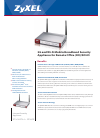 ZyXEL Communications ZYWALL 2 WG Brochure 2 pages
