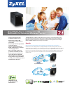 ZyXEL Communications NSA325 v2 Brochure & Specs 4 pages