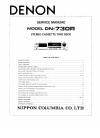 Denon DN-730R Service Manual 25 pages