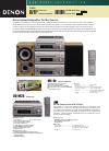 Denon DRR-M30 Model Information 2 pages