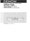 Denon DRW-585 Operating Instructions Manual 17 pages