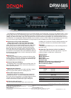 Denon DRW-585 Specifications 1 pages