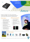Universal Power Group XPAL Amos Specification Sheet 1 pages