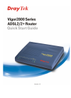 Draytek 2800 Series Quick start manual