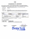 Draytek 2800 Series Declaration of conformity