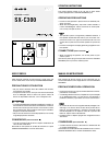 Aiwa SX-C300 Operating Instructions 2 pages