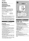 Aiwa SC-R10 Operating Instructions Manual 6 pages