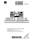 Aiwa CA-DW235 Service Manual 6 pages