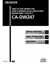 Aiwa CA-DW247 Operating Instructions Manual 10 pages