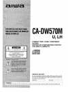 Aiwa CA-DW570 Operating Instructions Manual 44 pages