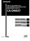 Aiwa CA-DW637 Operating Instructions Manual 18 pages
