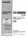 Aiwa CA-DW680 Operating Instructions Manual 44 pages