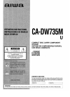 Aiwa CA-DW735 Operating Instructions Manual 44 pages