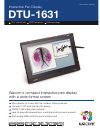Wacom DTU-1631 Specifications 2 pages